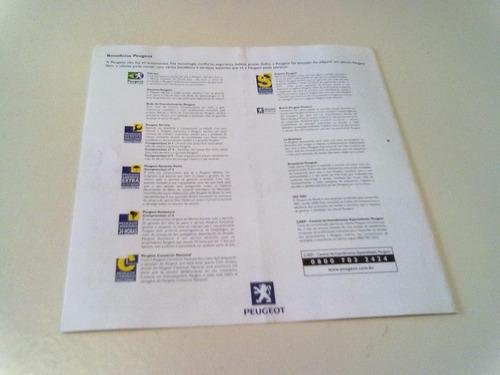 folheto da linha peugeot 2002 todo os modelos