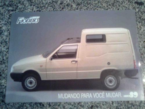 folheto de porpaganda de fábrica do fiat fiorino furgão 1989