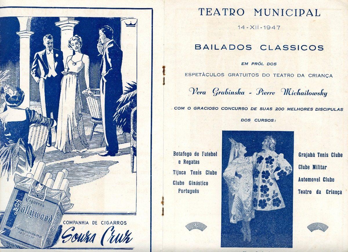 Folheto Programa Teatro Municipal Rj 1947 Bailados Clássicos - R  45 ... 194e8cc602c3f