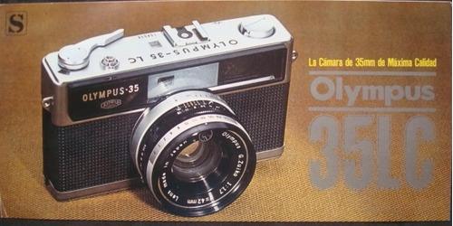 folheto promocionais da camera olympus 35lc