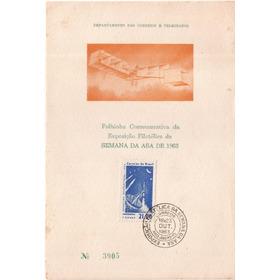 Folhinha Semana Da Asa 1963 Selo 485 14 Bis Santos Dumont