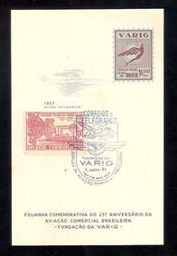 Folhinha Varig- 25º Aniverssário Da Aviação Comercial