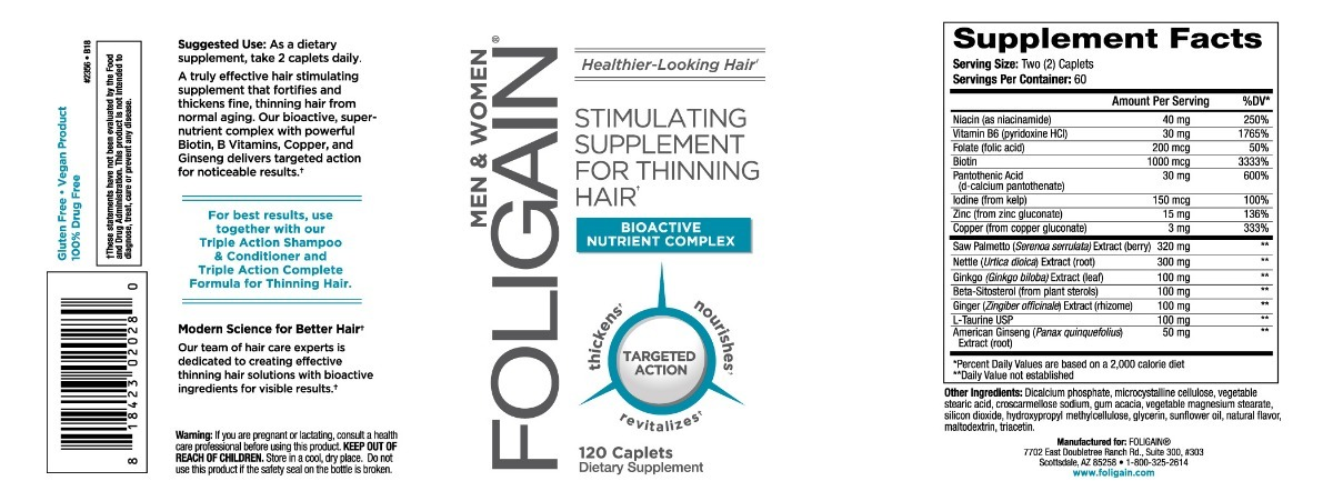 foligain para perda de cabelo 120 comprimidos r$ 185,90 em mercado