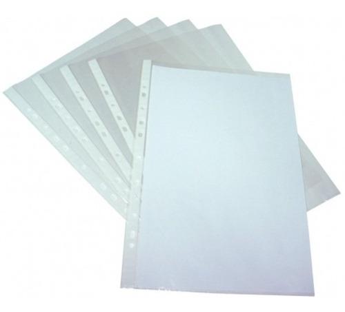 folio transparente oficio | 40 micrones | foska | x100