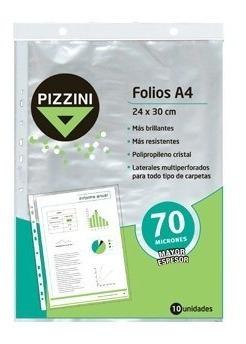 folios a4 x 10 unidades 24x30 cm polipropileno pizzini