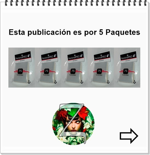 folios protectores nacional-pro x5 paquetes - cartas magic z