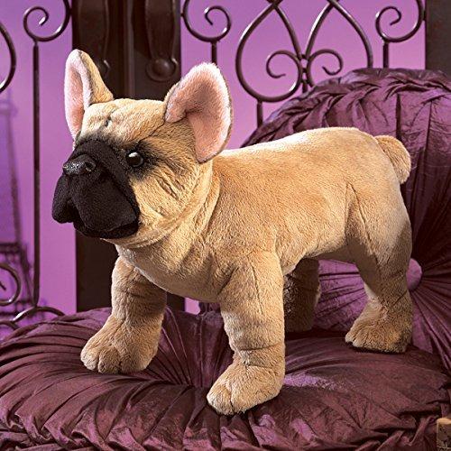 folkmanis bulldog francés marioneta de mano de la felpa
