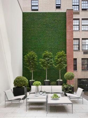 follaje artificial sintético para muro o pared hojas verde