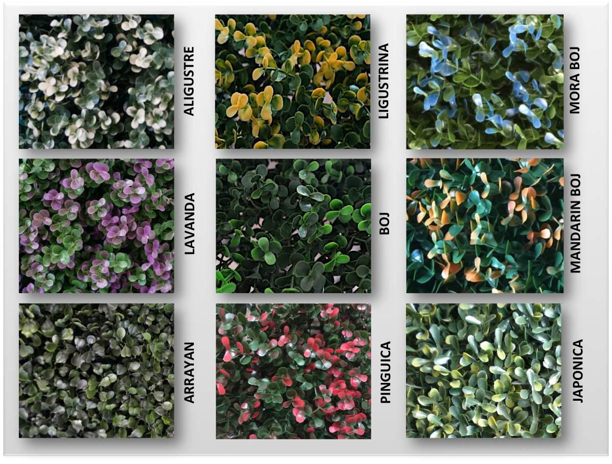 Follaje artificial sintetica muro verde jardin vertical for Placa jardin vertical artificial
