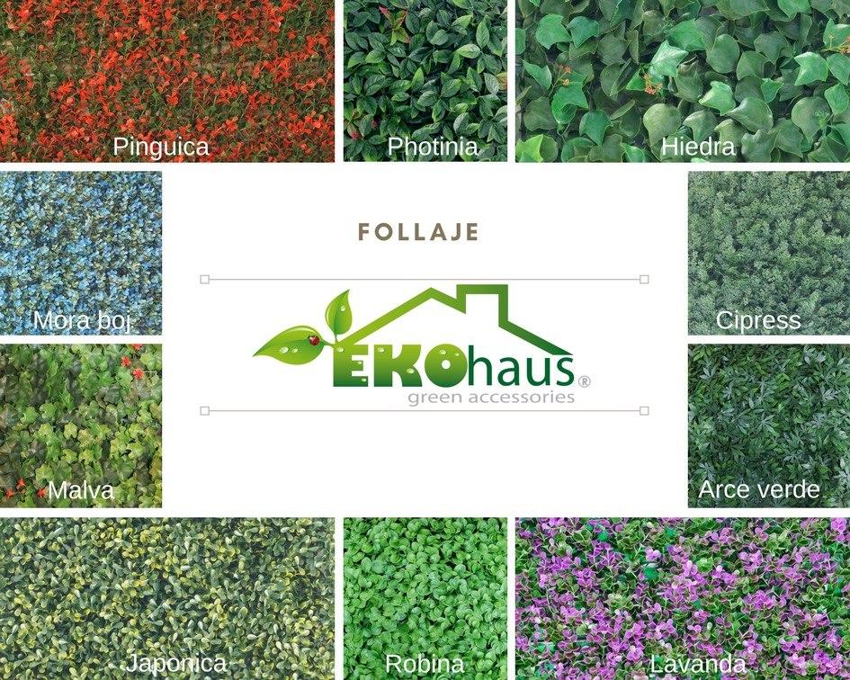 Follaje plantas muro verde artificial sintetico for Plantas muro verde