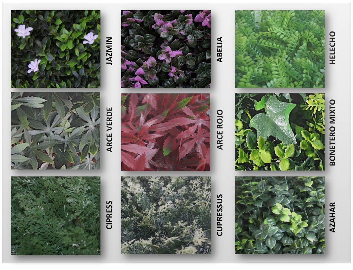 Follaje plantas muro verde enredaderas artificial Plantas para paredes verdes