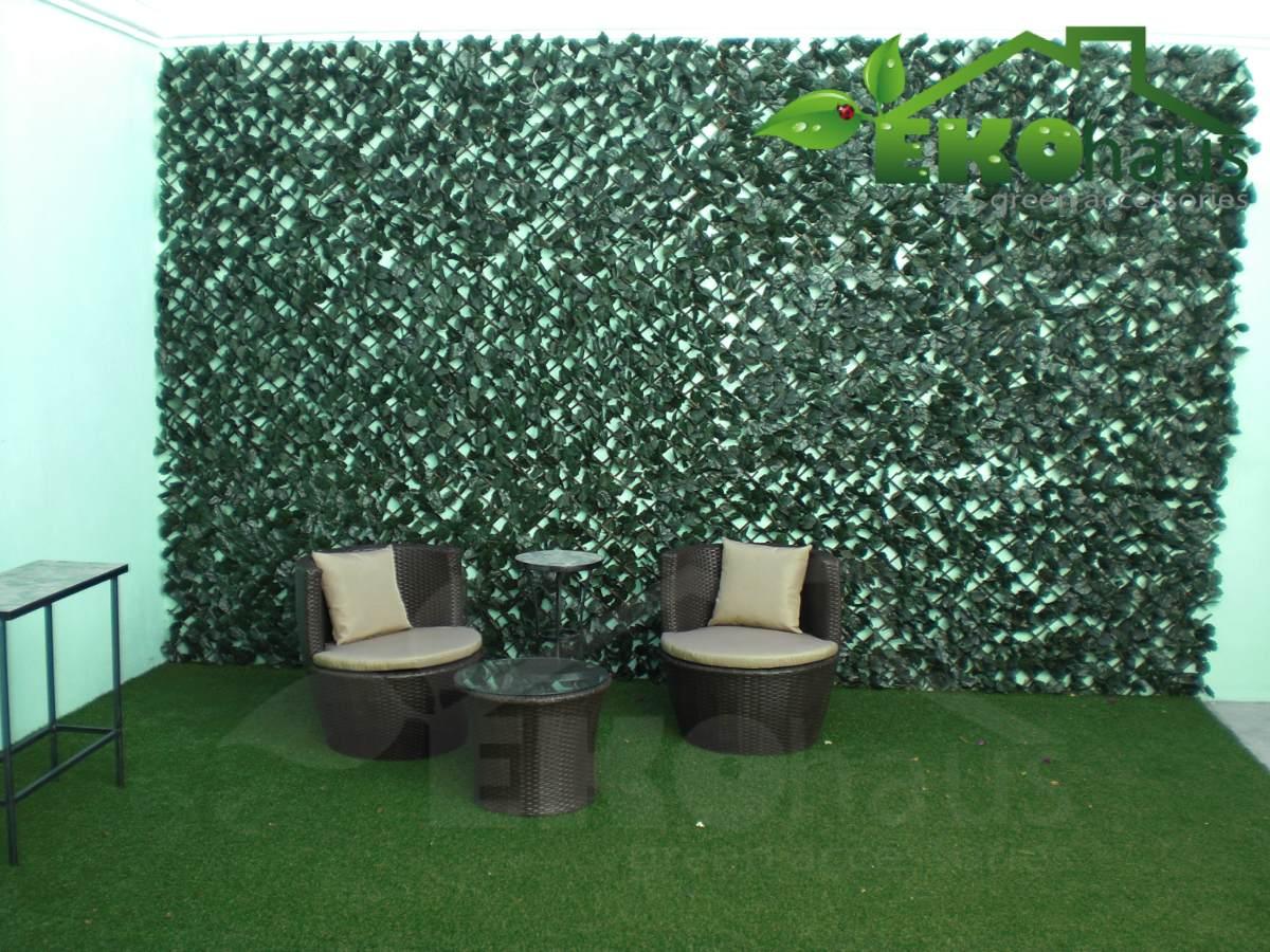 Follaje sintetico artificial panel de vinifera eko haus for Follaje para jardin