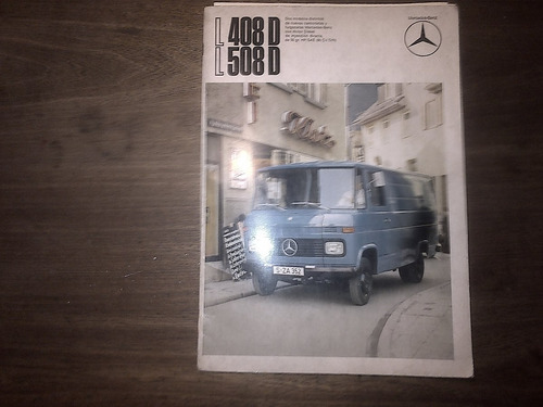 folleto años 70s mercedes benz 408 d