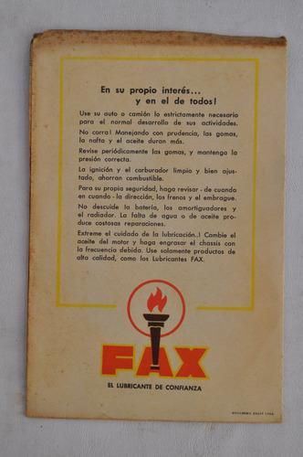 folleto antigua publicidad gaucho el poncho pingo facon fax