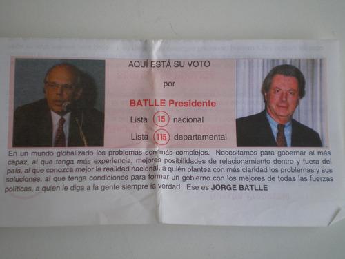 folleto batlle lista15 partido colorado eleccion interna1999