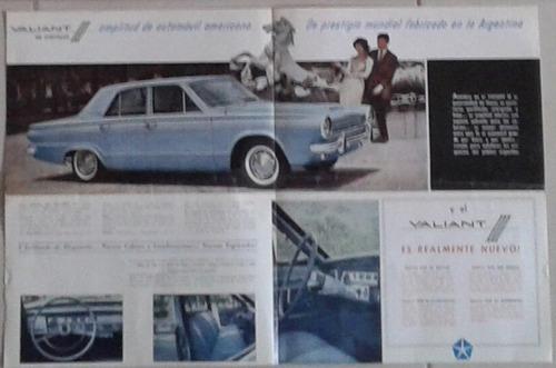 folleto / catálogo de venta 100% original de valiant iii