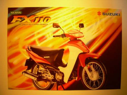 folleto - catalogo - suzuki - fx110 - scooter - retro