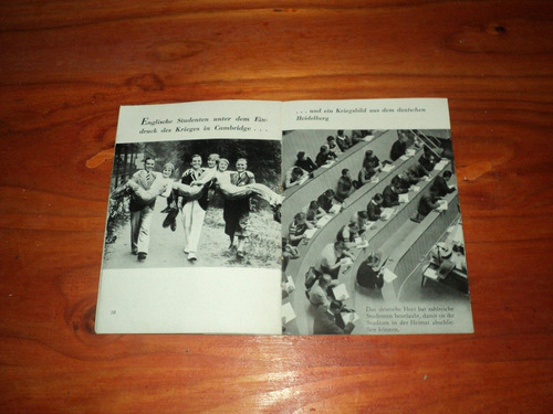 folleto de propaganda alemana contra inglaterra