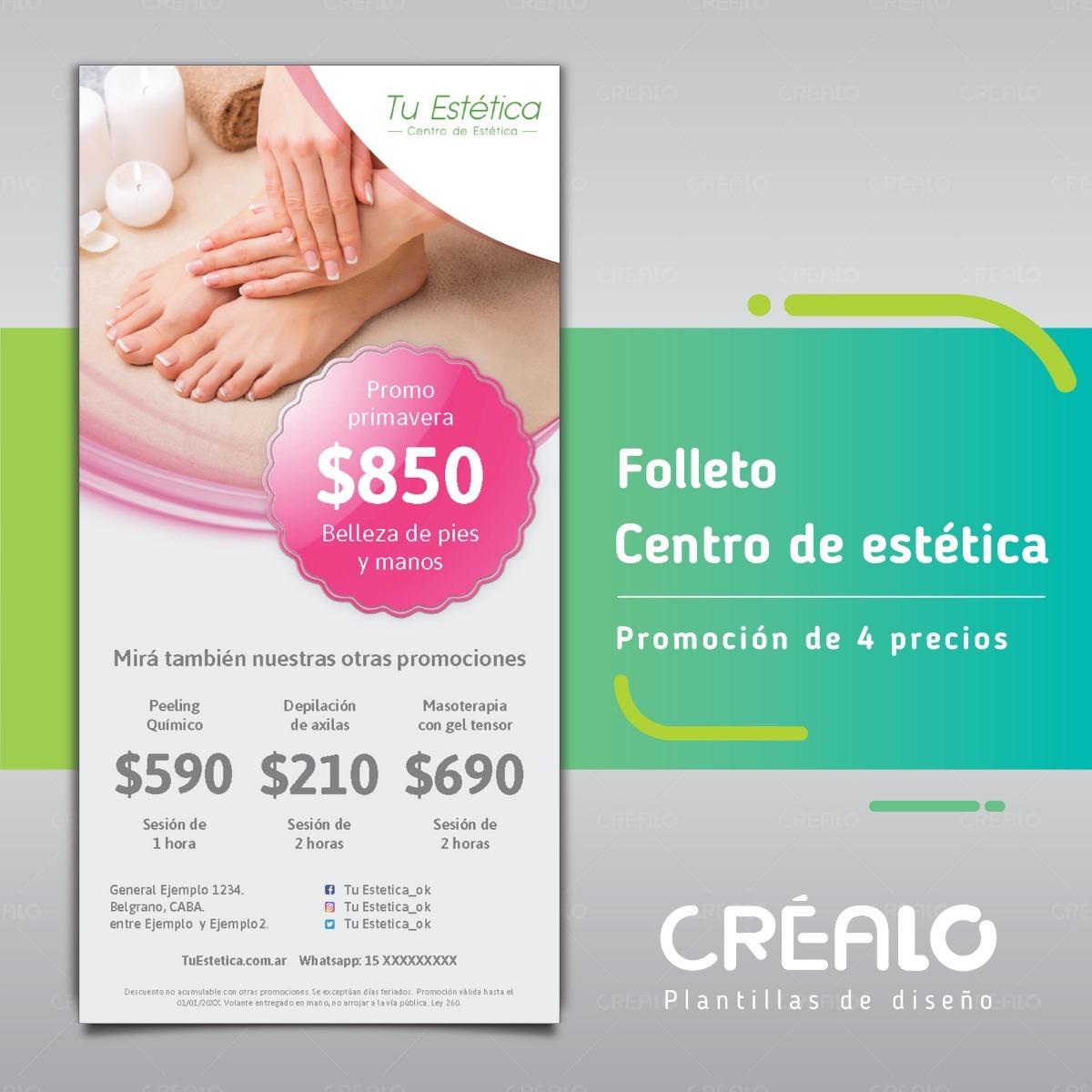 Folleto - Estética - Promoción 4 Precios | Créalo Plantillas ...