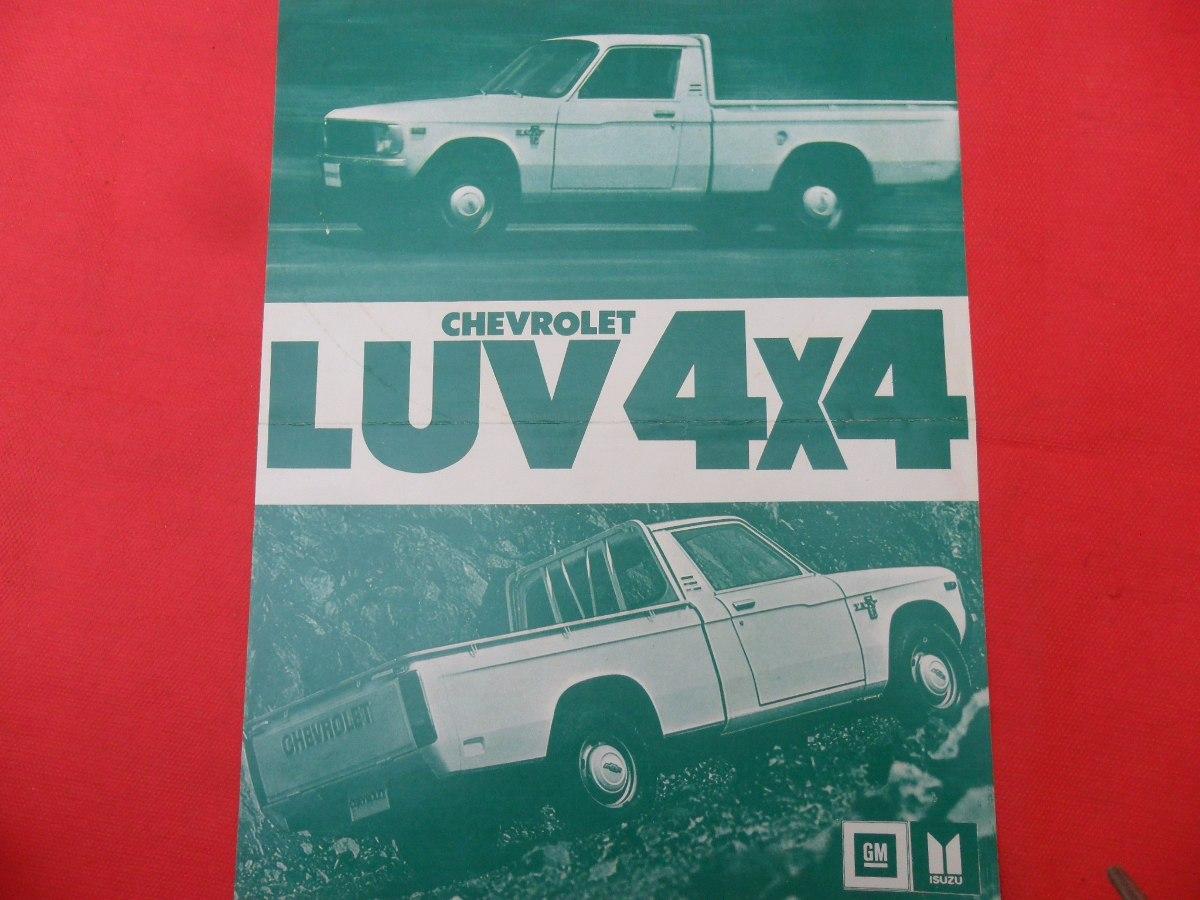 Folleto Pick Up Antiguo Chevrolet Luv 4x4 Kb40 No Manual Gm 660 00 En Mercado Libre