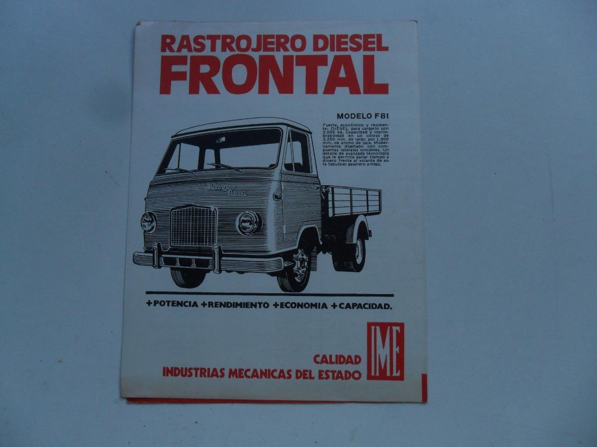 folleto rastrojero f81 frontal no manual ime indenor 450 00 en rh articulo mercadolibre com ar ABB Manual Motor Motor Truck Repair Manual