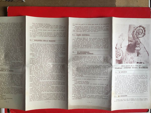 folleto reseña del cardenal antonio maría barbieri, al1c24