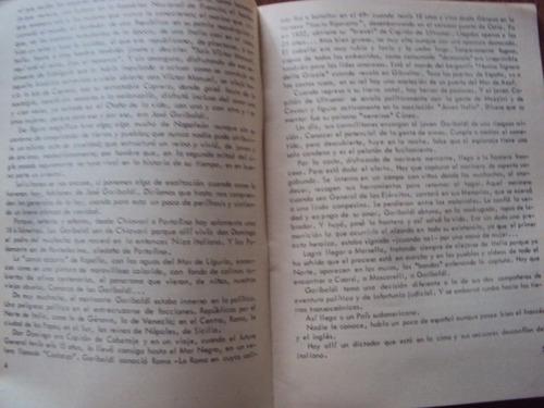 folleto vida intima de garibaldi juan pedemonte 1978