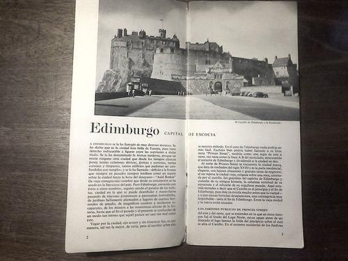 folleto vintage de edimburgo - 1960