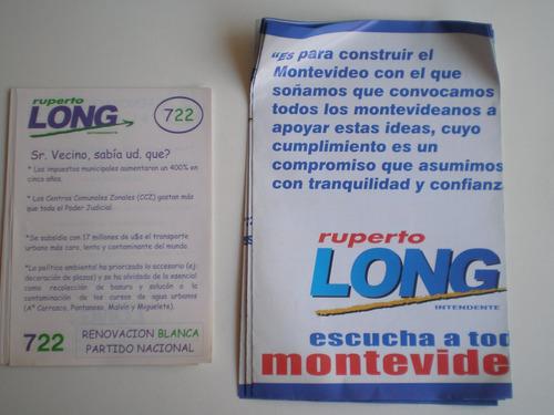 folletos long inten partido nacional eleccion municipal 2000