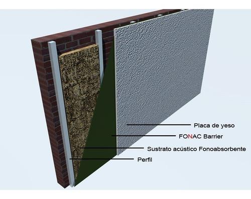 fonac barrier aislante acústico -1,22 x 10m - espesor 3 mm