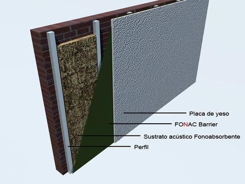 fonac barrier aislante acústico -1,22 x 5m - espesor 3 mm