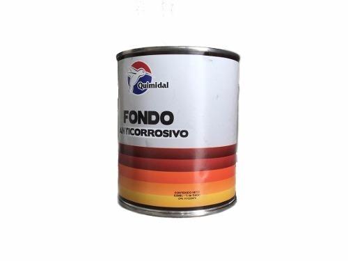 fondo anticorrosivo rojo 0.946l 1/4 gal quimidal