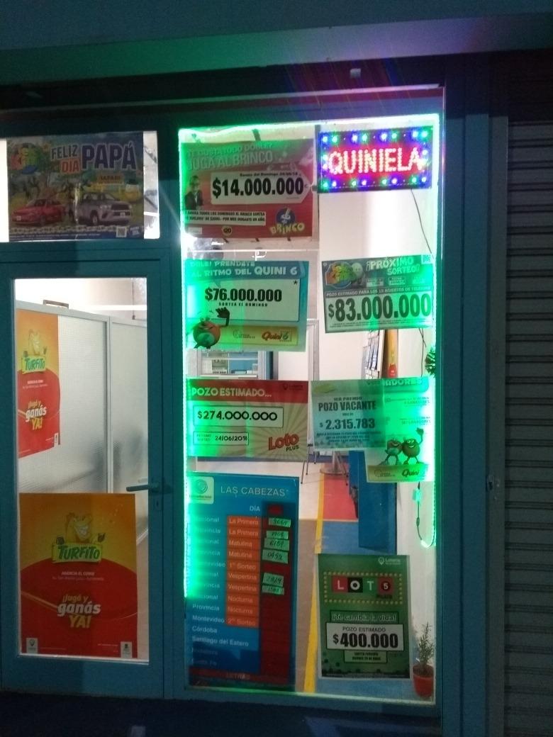 fondo de comercio loteria de la ciudad agencia quiniela turf