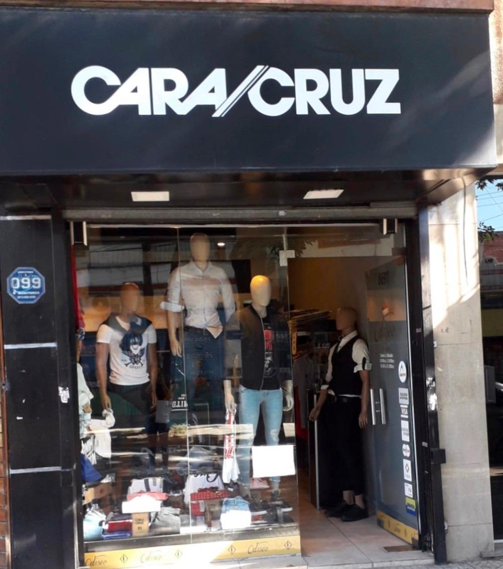 fondo de comercio ropa hombre cara cruz