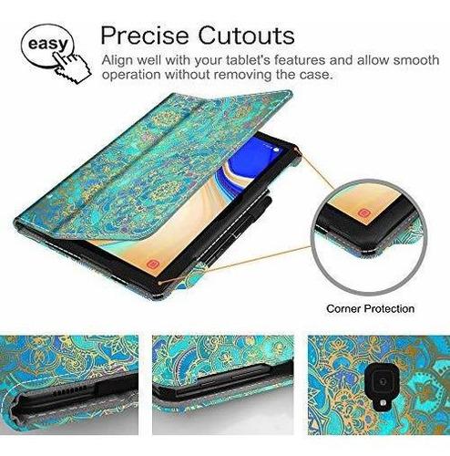 fondo de piel con tapa para samsung galaxy tab s4 10.5 model