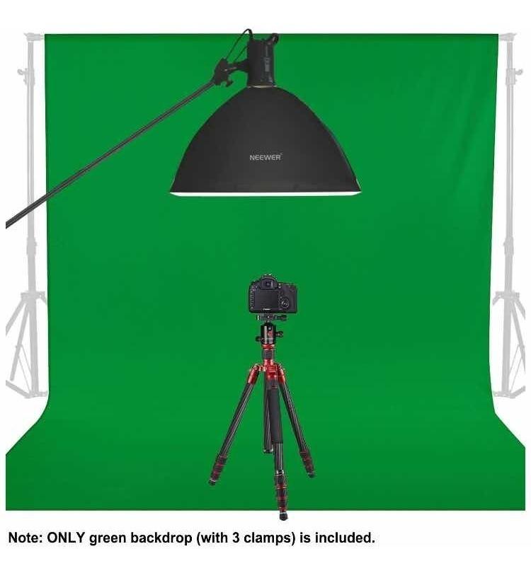 Neewer 2,8 x 4 Metros Fondo Foto Video Estudio de Telón Fondo de Tela Verde