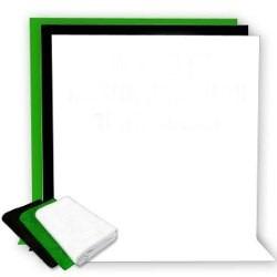 fondo fotográfico ciclorama blanco verde negro 1.7x3m