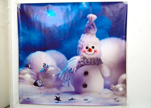 fondo fotográfico mate (1.40x1.50 mtrs) -  hombre de nieve