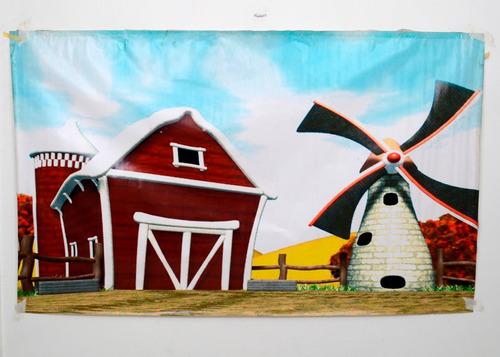 fondo fotográfico mate (2x1.20 mtrs) -  granja