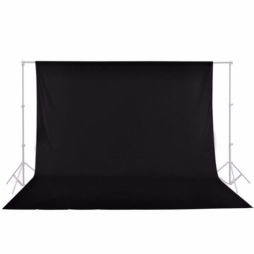 fondo fotografico negro blanco muslin 3,2mt x 1,5 foto video