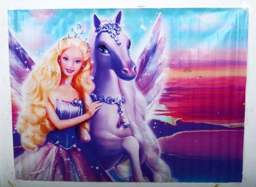 fondo fotográficos mate (1.75x1.30 mtrs) -  barbie pegaso