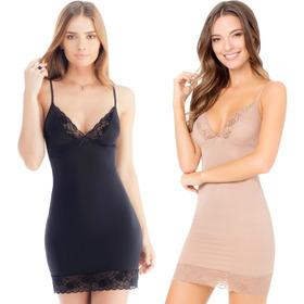 Fondo Ilusion Vestido Completo Ajustado Paquete Dos 2 2096