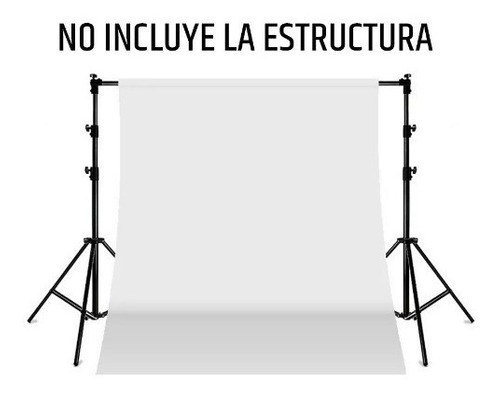fondo infinito fotografia sin fin telon blanco 2.2x6 mts