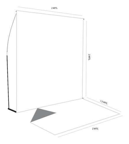 fondo infinito sin fin blanco 2x3.5 estructura + piso