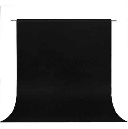 fondo infinito telon fotografia sin fin de tela negro 3x6m