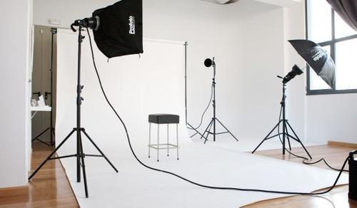 fondo infinito telon fotografia sin fin tela blanco 2x5 mt