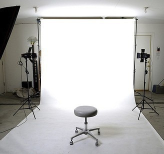 fondo pantalla fotográfico ciclorama blanco verde negro 5x3m