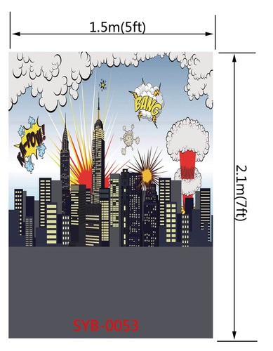 fondo para fotos de la ciudad de 5x7 pies, para niños, de la