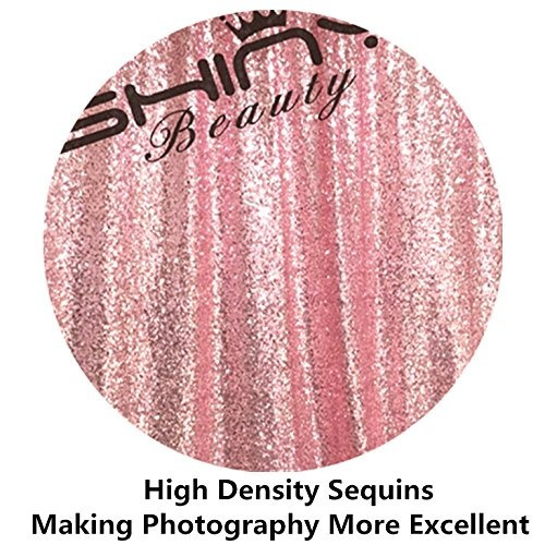 fondo rosa fucsia rosa tejido lentejuela para boda -10ftx8ft