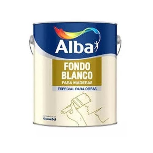 fondo sintetico blanco para maderas 1 l alba standard mm